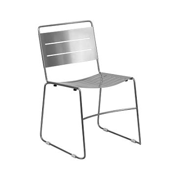silver metal restaurant chairs silver ergonomic laser cut stacking cafe chair