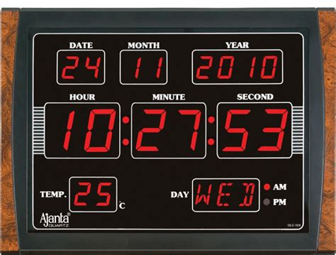 wall clock digital ajanta led digital wall clock olc 109