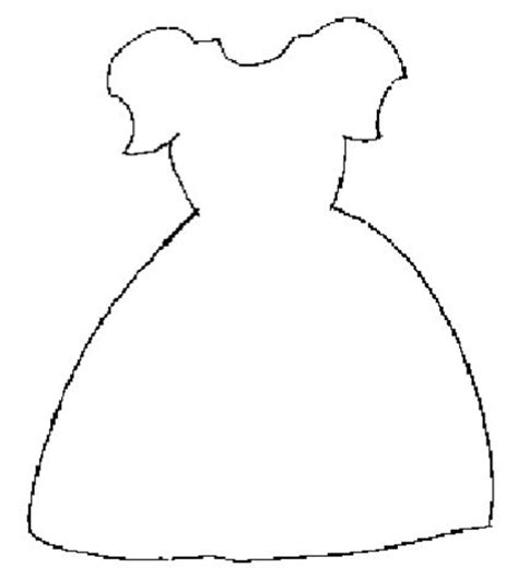 dress template paper dolls pinterest