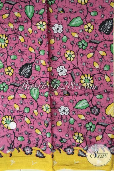 Dress Batik Bunga Pink jual eceran harga grosir kain batik pink motif bunga