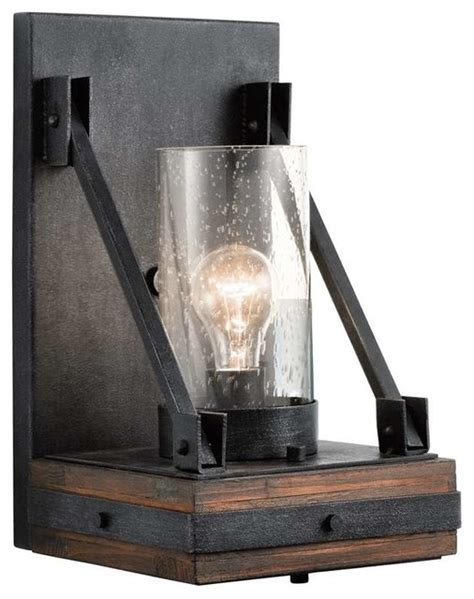 Rustic Sconces Kichler Lighting 43436aub Colerne Lodge Country Rustic
