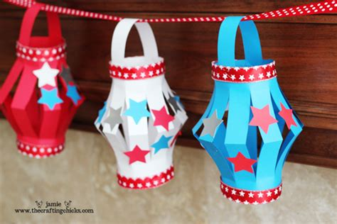 Paper O Lantern Craft - paper lantern kid s craft 4th of july style the crafting