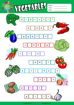 fruit 3 letter words vegetables esl printable worksheets for 2