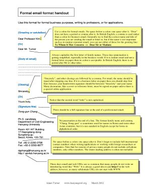format email in english fillable online hanyangowl formal email format handout