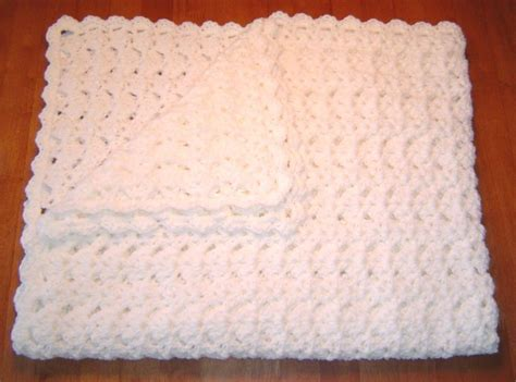 Handmade Crocheted Baby Blankets - handmade white crocheted baby blanket afghan by