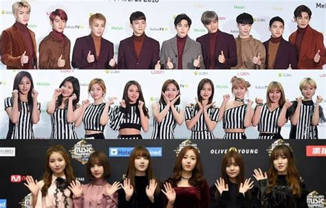exo gfriend exo twice gfriend 等出席 gaon 典禮 活動 kpopn 韓娛最前線