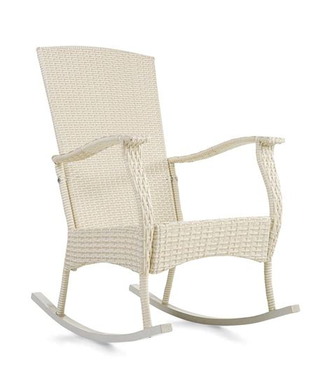 Indoor Rocking Chairs by Outdoor Or Indoor Wicker Rocking Chair With Steel Frame