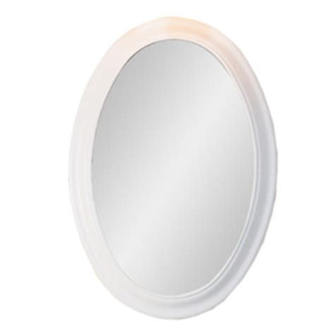 white oval bathroom mirror shop decolav 31 in h x 21 1 2 in w bathroom furniture