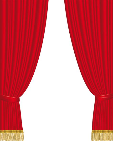 Red Theatre Curtains 5 Practical Curtain Vector Free Vector 4vector
