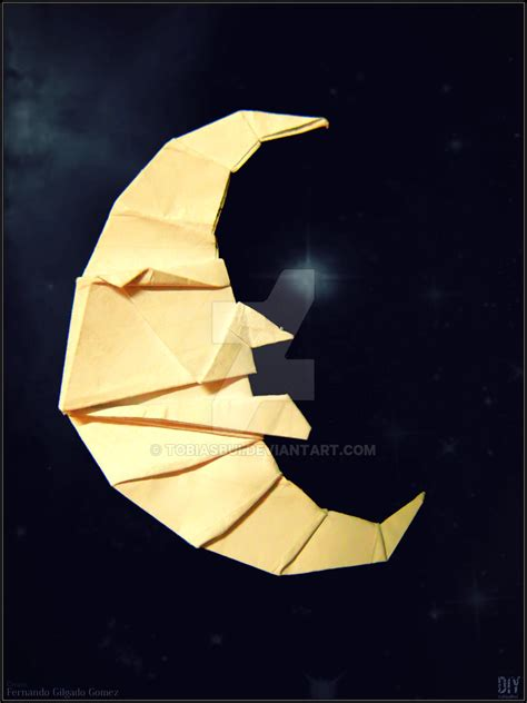 Folding Paper Moon - crescent moon by tobiasbui on deviantart