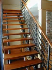White Banister Rail Contempoary Stair Railing Modern Staircase Milwaukee