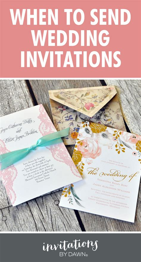 when to send wedding invites when to send wedding invitations