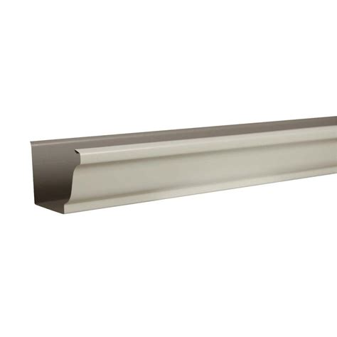 rainhandler 5 ft aluminum gutter with brackets