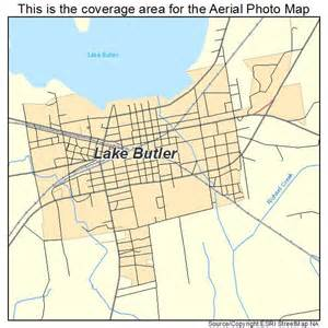 aerial photography map of lake butler fl florida