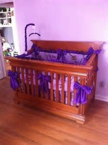 purple camo crib bedding for children and babies