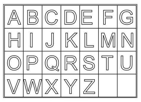 free medium printable alphabet letters free printable letters activity shelter free worksheets