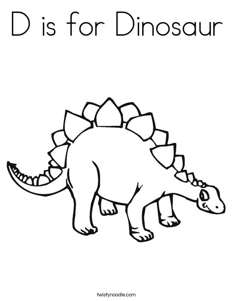 d dinosaur coloring page d is for dinosaur coloring page twisty noodle