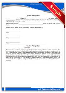 Charity Trustee Resignation Letter Template trustee resignation form free printable