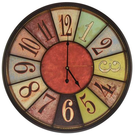 Vintage Wooden Signs Home Decor Wall Clock Hanging Clock Vintage Clock Round Clock