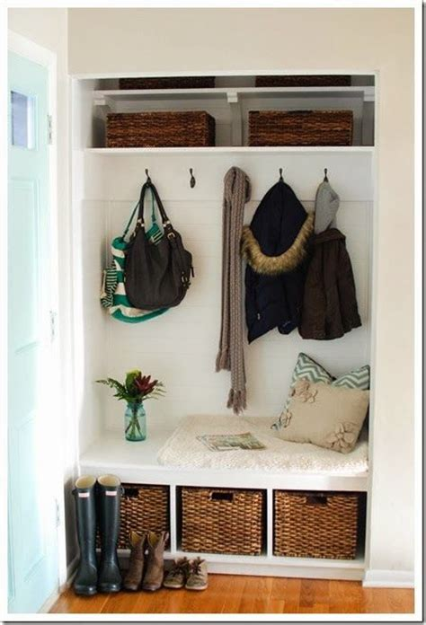 Closet Turned Mudroom by Turning A Foyer Closet Into A Mudroom For The Home
