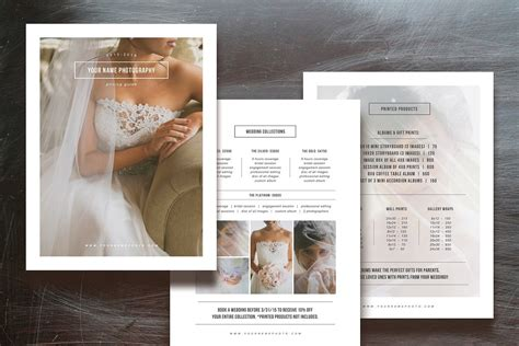 Sale Photographer Pricing Guide Set Flyer Templates Creative Market Bridal Guide Template For Photographers