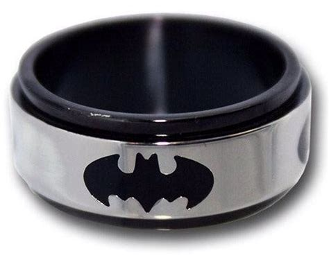 mens batman titanium ring gifts guys