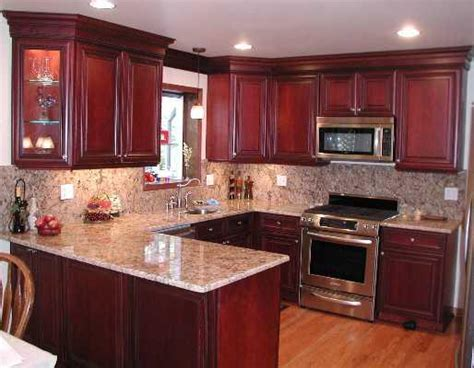 what color granite goes with cherry cabinets kitchen