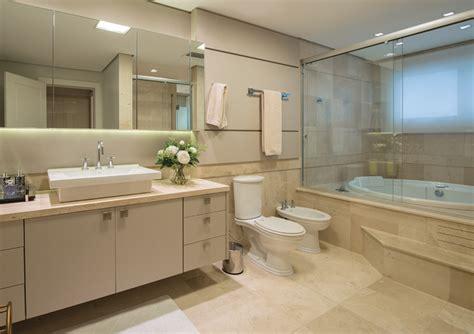 banheiro decorado bege construindo minha casa clean 20 banheiros bancadas