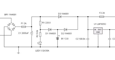 uninterrupted power supply circuit diagram electronic