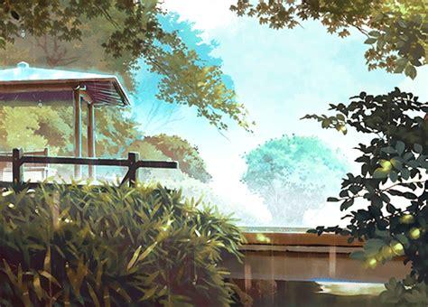 anime scenery gif