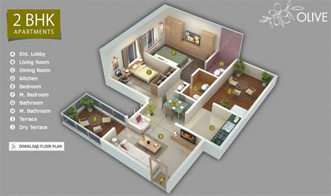 2 bhk flat plan ravi karandeekar s pune real estate advertising and