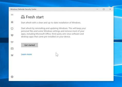 resetting windows defender you can reset windows 10 through windows defender now