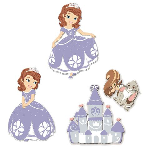Princess Sofia Wall Stickers sofia the first foam wall decals everything princesses