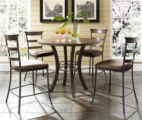 5 Counter Height Dining Set With Stools by 5 Counter Height Table Ladder Back Stools