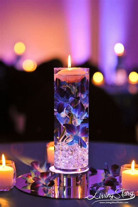 280 Best Images About Floating Candle Centerpieces On Wedding Reception Centerpieces Candles