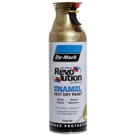 dy mark revolution 325g metallic gold enamel spray paint