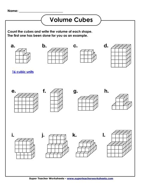 5th Grade Math Printable Worksheets by Volume Geometry With Cubic Units Pdf Math Worksheets