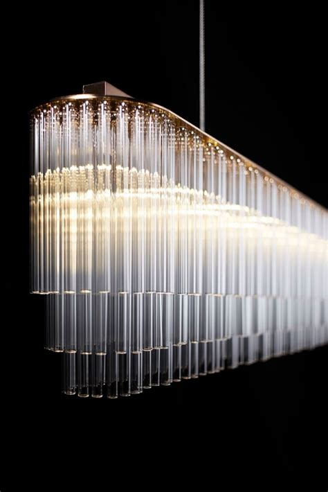 Chandelier Lights Designs Original Design Chandelier Glass Linear Tom Kirk Lighting