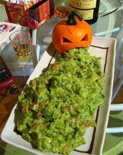 guacamole puking pumpkin spooky treats pinterest