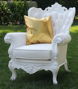 cielo blanco ornate arm chair town country event rentals