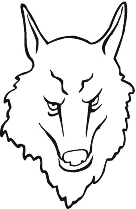 coloring page of a wolf s face wolf face coloring page super coloring clipart best