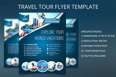 Travel Flyer Free Template 187 Designtube Creative Design Content Travel Flyer Template Free