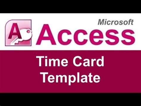 time card template access wsi microsoft access time card database template