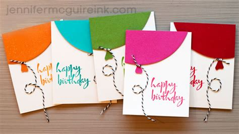 how to make a big birthday card balloon cards cool new product big
