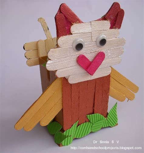 popsicle stick craft cards crafts projects popsicle stick craft