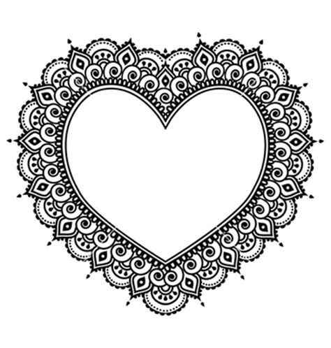 heart pattern in java heart mehndi design indian henna tattoo pattern on