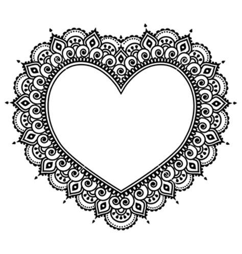 heart pattern logo heart mehndi design indian henna tattoo pattern on