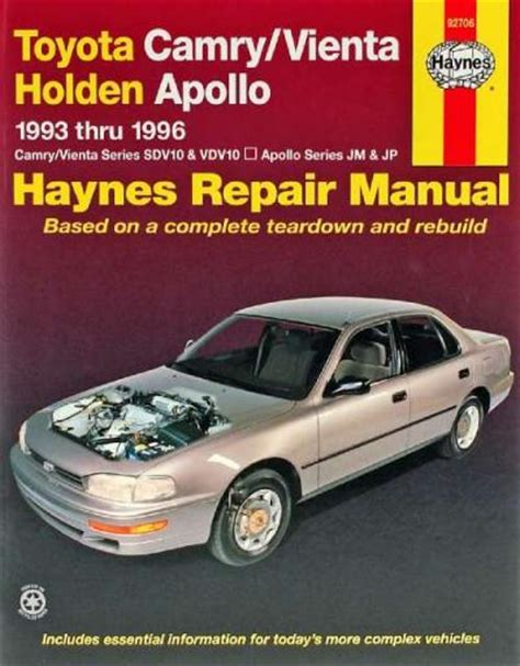 old cars and repair manuals free 1996 toyota 4runner on board diagnostic system toyota camry vienta holden apollo 1993 1996 haynes service repair manual sagin workshop car