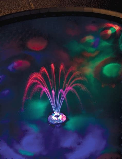 pool fountain with lights g a m e underwater light show fountain rechargeable