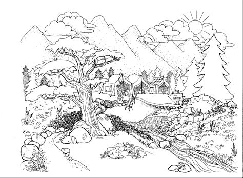 beautiful nature coloring pages beautiful nature coloring pages coloring page pedia
